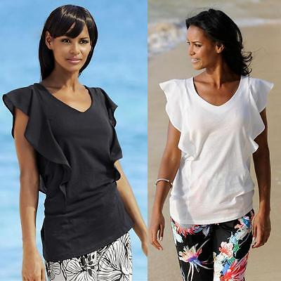 Fashion Women Summer Loose Short Sleeve Casual T-shirt Tops Daily Simple Blouse