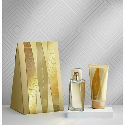 Avon ATTRACTION FOR HER Gift Set - 50ml EDP & 150ml Body Lotion Boxed & Sealed
