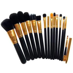 New-15PCS-Pro-Makeup-Brushes-Set-Cosmetic-Eyeshadow-Powder-Foundation-Lip-Brush