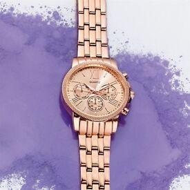 Lolo Ladies' Textured Bezel Watch