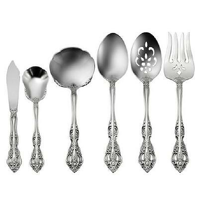 Oneida Michelangelo 6 Piece Hostess & Serving Set 18/10 Stainless Flatware