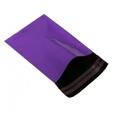 100 Premium Plastic Purple 10 x 14 Inch Mailing Postal Bags Strong Mail Posting