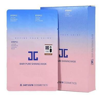 JayJun BABY PURE SHINING MASK (25ml) 3STEP 5PCS,US-SELLER + FREE GIFTS & SAMPLES