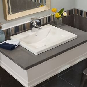 Brand new square drop-in bathroom sink