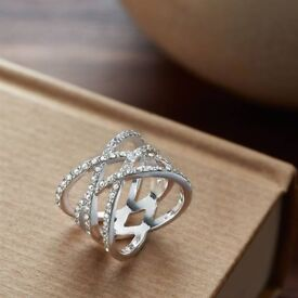 Coveted Everly Crossover Ring