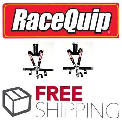 Racequip Black 5 point Racing Harness Seat Belts 2 Pair Razor Rzr Drag Race IMCA 5 Point Harness Seat Belts