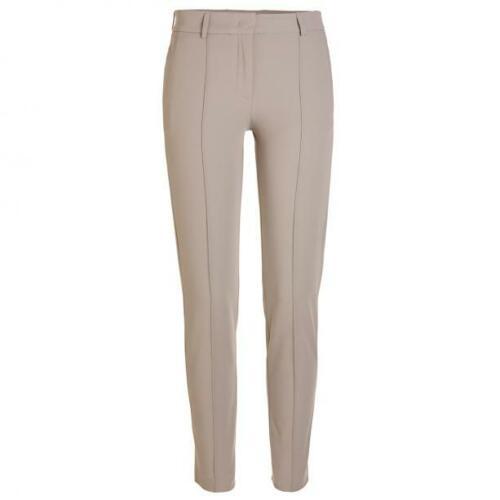 NWT Golfino Ladies Premium Techno Stretch Trouser Slim 8261922 149 Taupe Sz 4 12