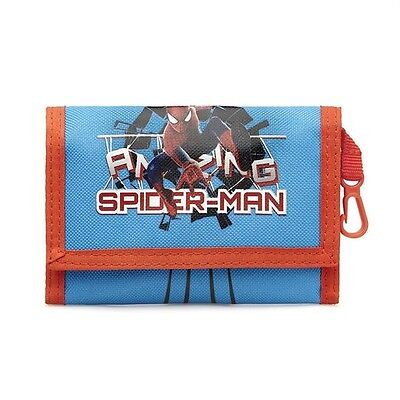 SpiderMan Marvel Kids Wallet - Blue - Ideal Present/Gift - Cool & Fun Design