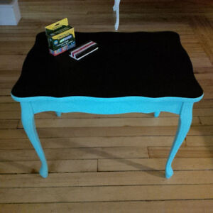 CHALKBOARD TABLE WITH 2 MATCHING CHAIRS