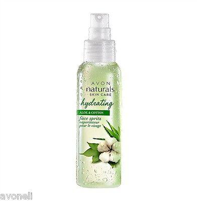 AVON Naturals Aloe & Baumwolle erfrischendes Feuchtigkeitsspray für das Gesicht