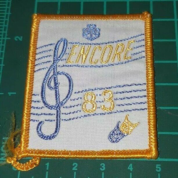 Girl Guides Australia Badge Encore 1983 Badge