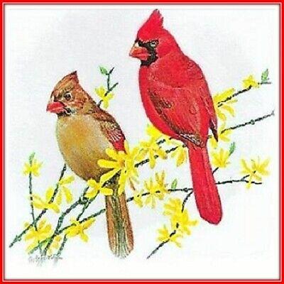 30 Custom Cardinal Art Personalized Address Labels