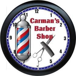 Personalized Barber Shop Salon Wall Clock