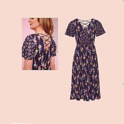 AVON Ladies Womens Floral Print Summer Beach Midi Dresses Size 10 12 14 16