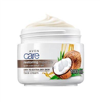 AVON CARE RESTORING MOISTURE Gesichtscreme mit Kokosöl extrem / & trockene Haut ()
