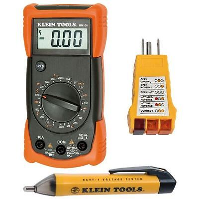Electrical Test Kit Lcd Multimeter Voltage Receptacle Tester Dust Water Proof