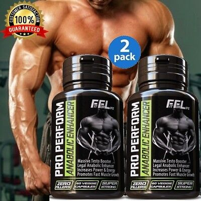 2 X #1 BEST ANABOLIC TEST BOOSTER MASS GAINER STRONGEST LEGAL TESTOSTERONE
