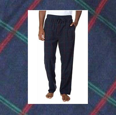 Nautica Men's Flannel Pajama Lounge Pants, Navy Plaid, Size M