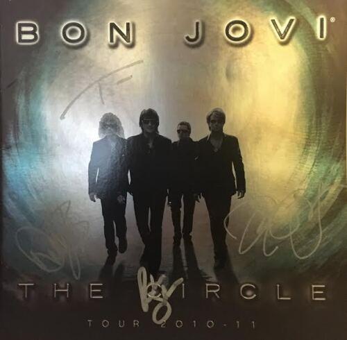 BON JOVI Signed Autograph The Circle Tour Book 2010-11 JSA LOA