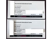 x2 Tickets for Gary Barlow @ BIC on Friday 1st June. Amazing Seats!