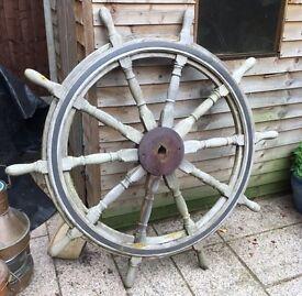Original ships wheel 5 ft across