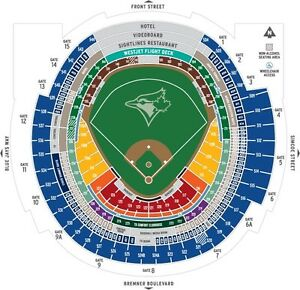BLUEJAYS VS RAYS WED AUG 10th GREAT SEATS SEC 126 row31