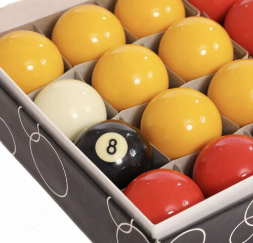 NEW! Full Size UK Regulation 16 Red and Yellow Pool Ball Set 2