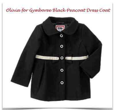 *NWT* OLIVIA FOR GYMBOREE LITTLE GIRLS 2T-3T BLACK BOW DRESS COAT PEACOAT](Peacoat For Girls)