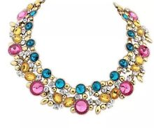 CHEAP NEW pink/blue/gold Collar Choker Rhinestone Bexley North Rockdale Area Preview