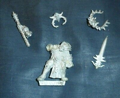 WARHAMMER  Warriors of Chaos Metal , Chaos Lord  DATED 1999 PATHFINDER D&D