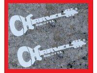 2 Charvel USA 2 EVH Art Series guitar headstock logo decal set 4 decals total