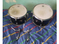 "Tama Imperialstar toms (12"" & 13"") with ball mounts, £70."