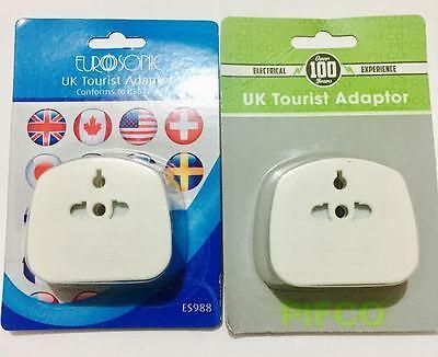 Universal USA/AUS/CHINA/EU To UK 3 Pin Tourist Travel Adapter Plug UK SELLER