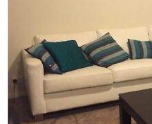 2 Seater white leatherette lounge Middleton Grange Liverpool Area Preview
