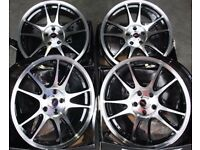 18 inch Alloys - Gloss Black **Brand New** for mk4 Golf / Audi A3 / Seat Leon