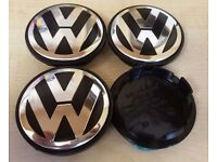 Volkswagen 65mm Alloy Wheel Centre Caps x4 Fits Most VW