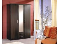 **7-DAY MONEY BACK GUARANTEE!**- 3 Door Omega Wardrobe in 3 Colours - 4 Door Wardrobe Available