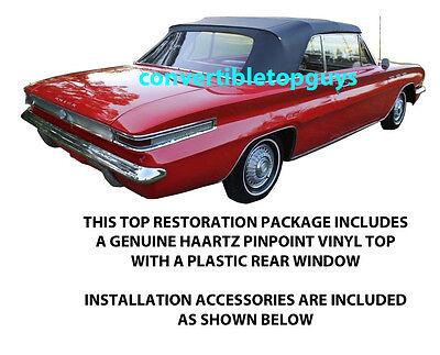 BUICK SKYLARK, GRAN SPORT & 46 SPECIAL CONVERTIBLE TOP PACKAGE 1962-1963 Buick Skylark Convertible Top