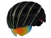 (1765) NEW, ROCKBROS NIGHT VISION LIGHTWEIGHT HELMET+BUILT IN GLASSES; ADULT/YOUTH; SIZE: 57-62cm