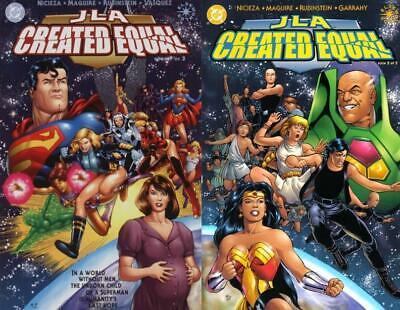 JLA: Created Equal #1-2 Complete Set