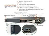 Cisco POE Switch 2960s 24 port with Fibre Gbic interface