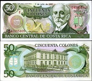 COSTA RICA - 50 colones 1993 FDS - UNC - Italia - Soddisfatti o rimborsati - Italia