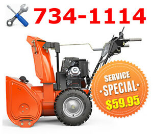 ** SNOW BLOWER ** SERVICE SPECIAL ** $59.95+TAX ** CALL 734-1114