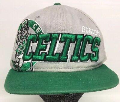 Big Logo Boston Celtics SnapBack Hat Hardwood Classics Gray Green New Era Flat Boston Celtics Classics Flat