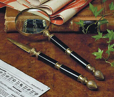 Desk Sets - Knightsbridge Letter Opener Magnifying Glass Executive Desk Set