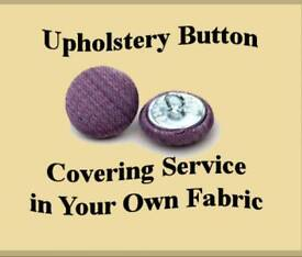 Upholstery buttons made