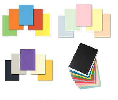 50 sheets 160gsm A4 coloured card making craft printer Pick from 23 colours - 1