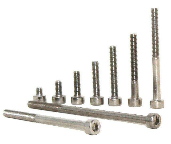 M3 3mm llave allen pernos de cabeza hexagonal A2 Acero Inoxidable Tornillos de Cabeza de bajo tapa de enchufe