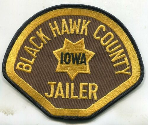 BLACK HAWK COUNTY, IOWA JAILER (POLICE) SHOULDER PATCH