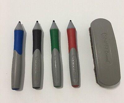 Smart Board 600 Complete Set Of Pens Red Green Black Blue And Eraser